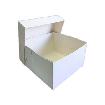 Caja tarta blanca 35 x 35 x 15 cm