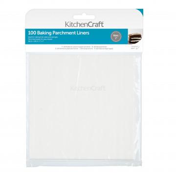 Pack de 100 Bases cuadradas de papel de horno 18 cm Kitchen Craft