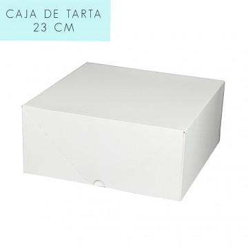 Caja para tarta 23 cm con tapa incluida