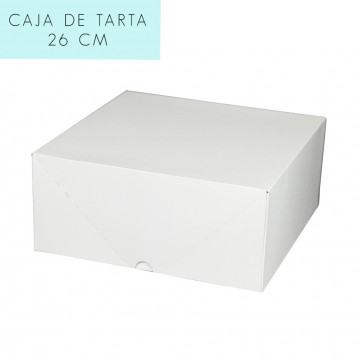 Caja para tarta 26 cm con tapa incluida