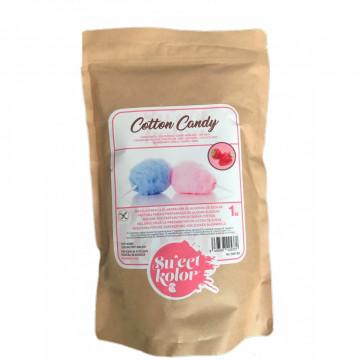 Preparado de Algodón de Azúcar Rosa Sabor Fresa 1kg SweetKolor