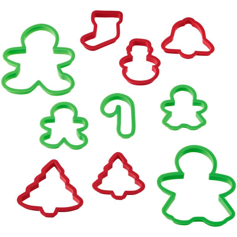 Pack de 10 Cortantes Navidad Wilton