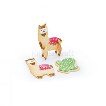 Pack de 5 cortantes Llama y Cactus Kitchen Craft