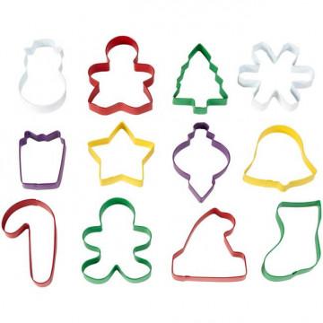 Pack de 12 Cortantes Varios Navidad Wilton