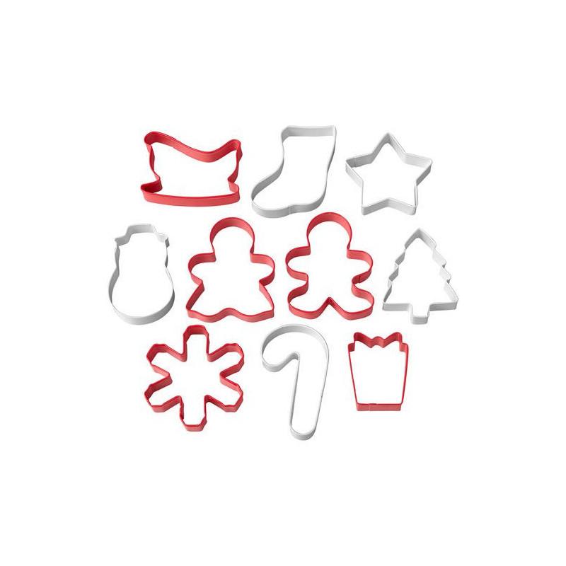 Pack de 10 Cortantes Varios Navidad Wilton