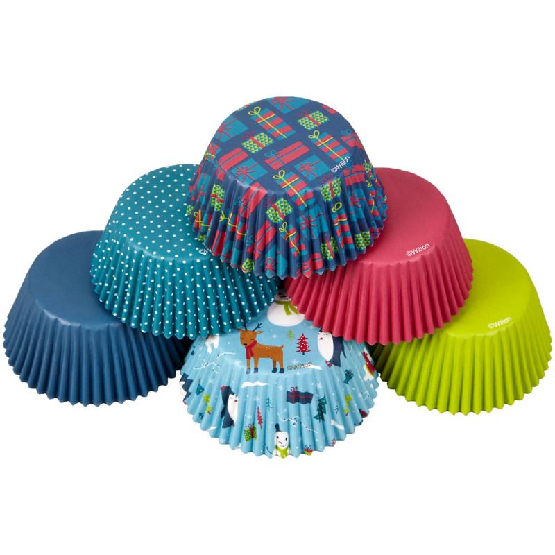 Pack 150 cápsulas de cupcakes Muñeco de nieve y amigos Wilton
