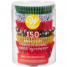 Pack 150 cápsulas de cupcakes Navidad Tradicional Wilton