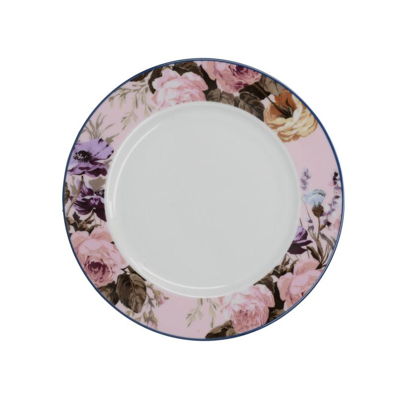 Plato de cerámica 19 cm Rosa y Flores Wild Apricity Creative Tops
