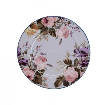 Plato de cerámica 19 cm Gris y Flores Wild Apricity Creative Tops