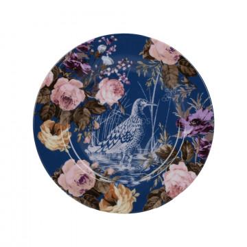 Plato de cerámica 19 cm Azul Marino y Flores Wild Apricity Creative Tops