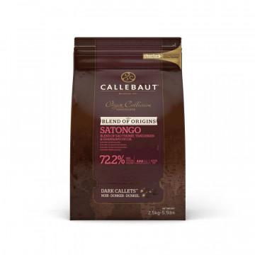 Chocolate negro 72.2% Satongo en grageas 2.5 kg Callebaut