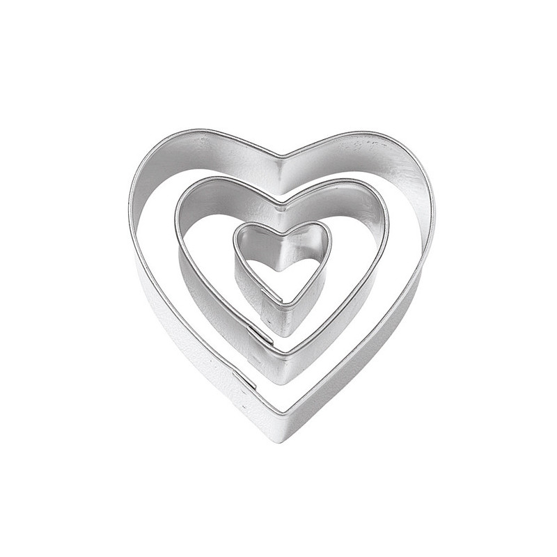 Pack de 3 cortantes Corazón Wilton