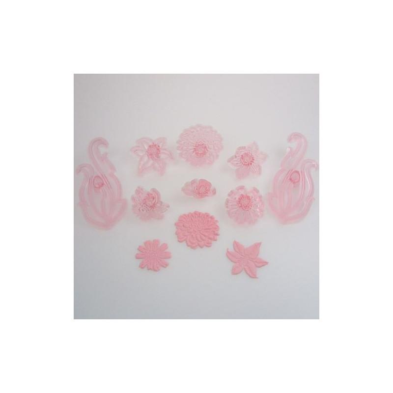 Cortante pack 8 cortantes flores: Floral Scrolls JEM