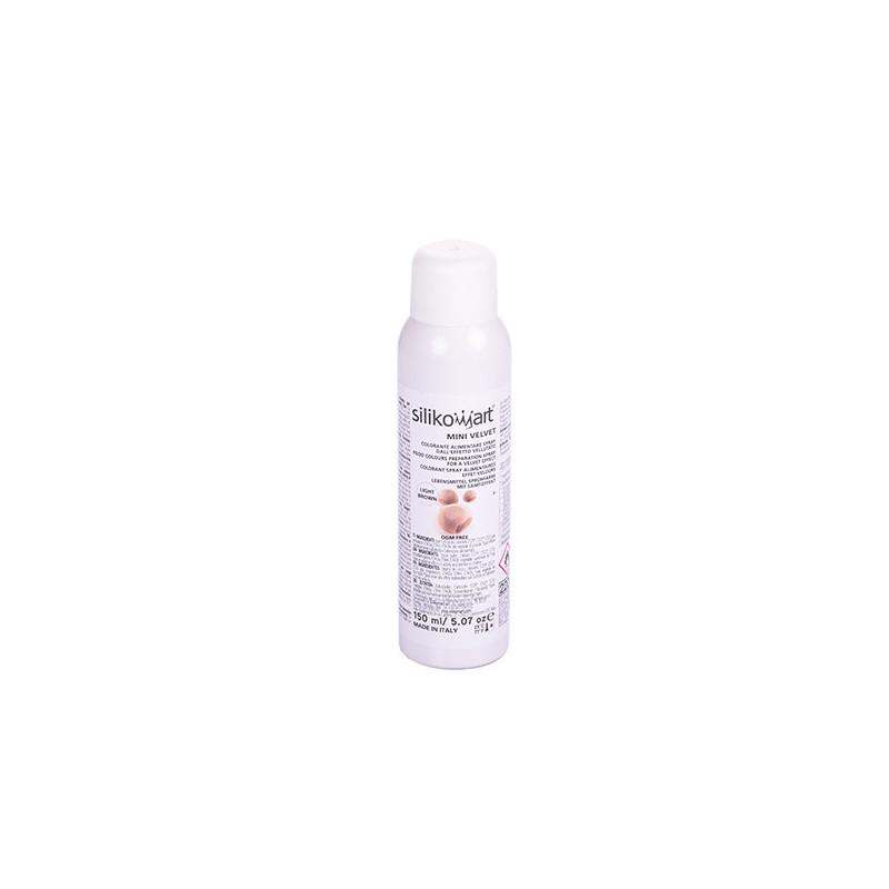 Spray efecto terciopelo Marrón Claro 150 ml Silikomart