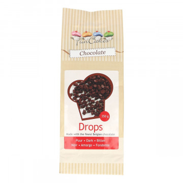 Chips de chocolate negro 350 gr Funcakes