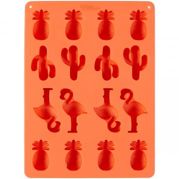 Molde de silicona Cactus, Flamenco y Piña Wilton