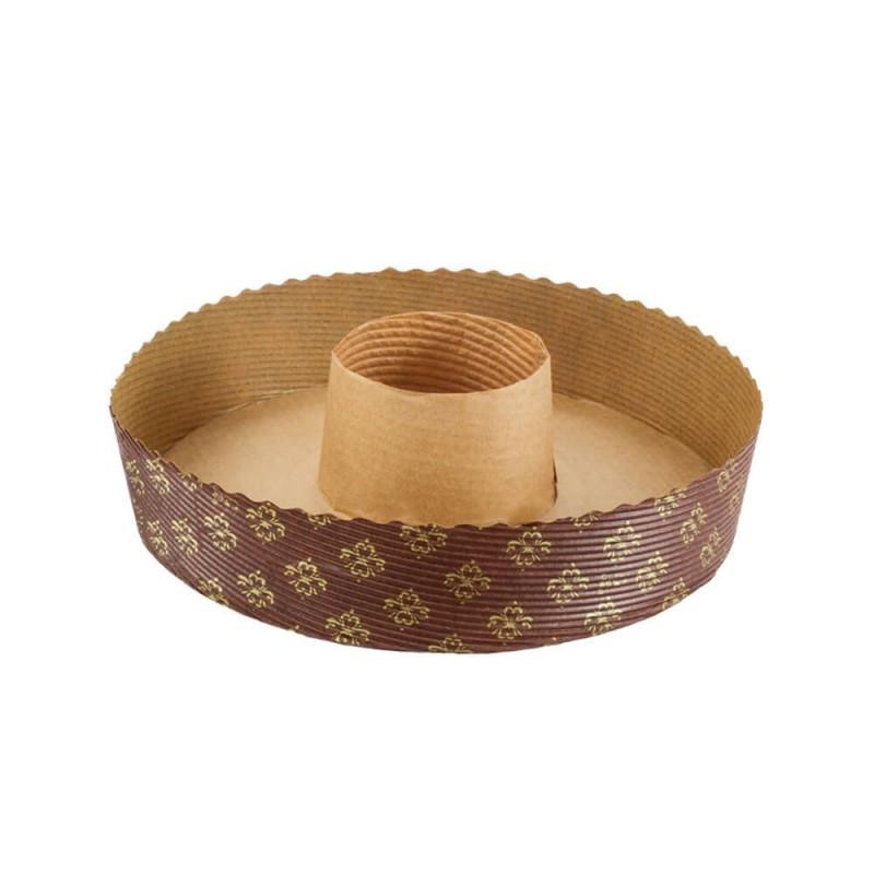 Molde de papel redondo Savarin Bundt Cake 20 cm