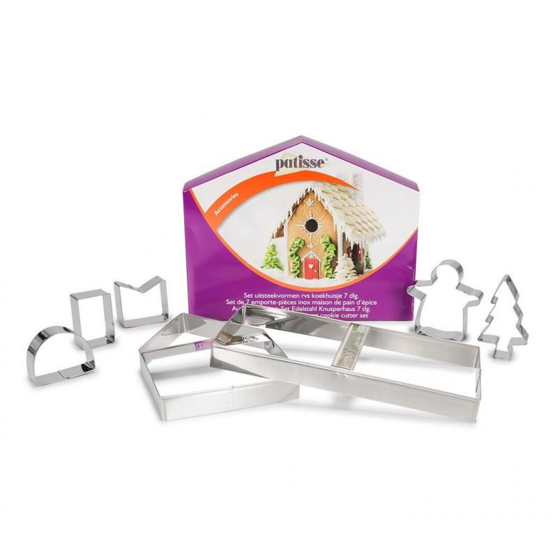 Pack de 7 cortantes Casa de Galleta Patisse