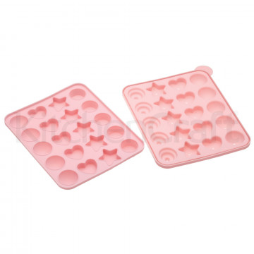 Molde silicona cakepops: redondo, cupcake, estrella y corazón Sweetly does it