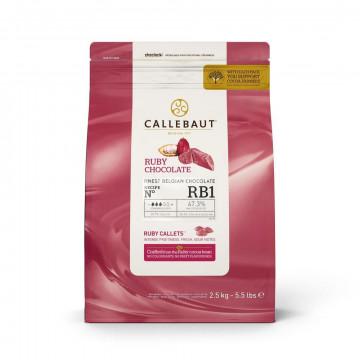 Chocolate RUBY en grageas 2.5kg Callebaut