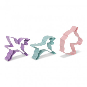 Pack de 3 cortantes Unicornio Patisse