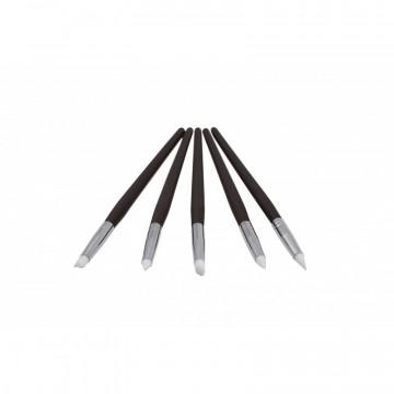 Pack de 5 Pinceles de Silicona para modelaje