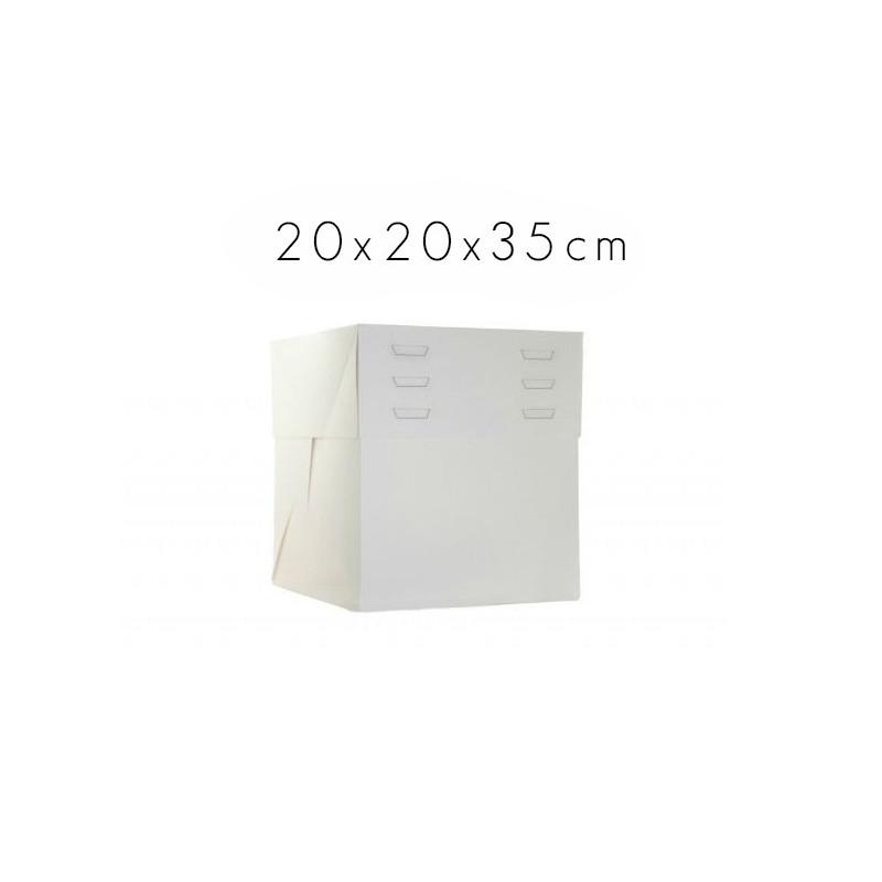 Caja para tartas de 20 cm con altura ajustable