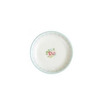 Plato de cerámica mini Abelone White Green Gate
