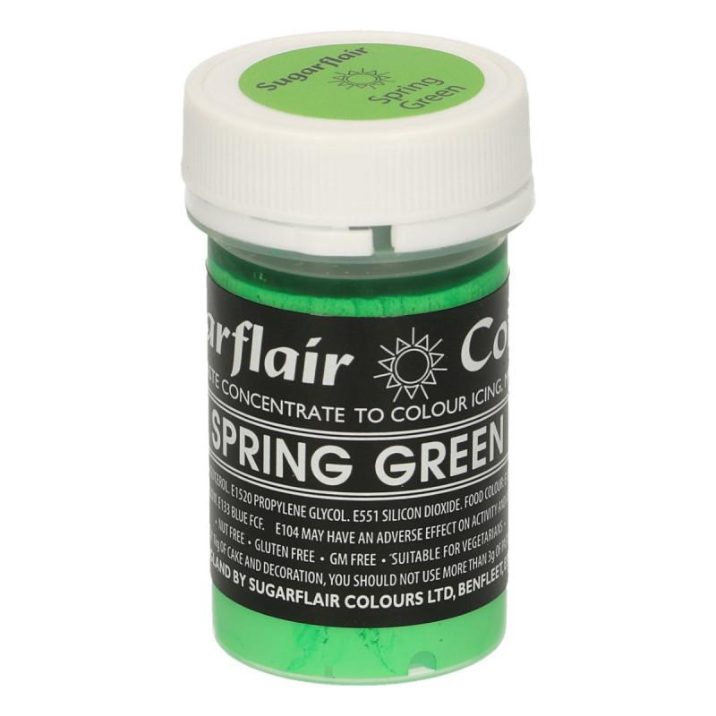 Colorante en pasta Gama Pastel Verde primavera Spring Green Sugarflair