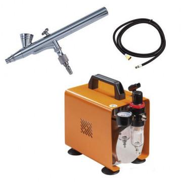 Kit de aerógrafo básico con compresor de 2.5 bar Martellato
