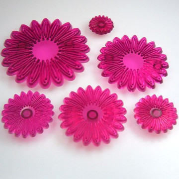 Cortante pack 6 cortantes flor Gerbera/Margarita JEM