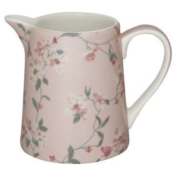 Lechera de cerámica 500 ml Jolie Pale Pink Green Gate