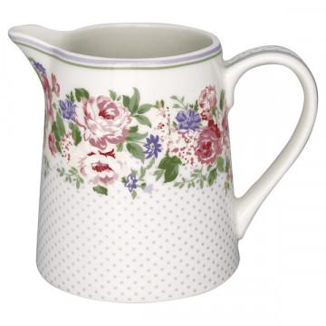 Lechera de cerámica 500 ml Rose White Green Gate