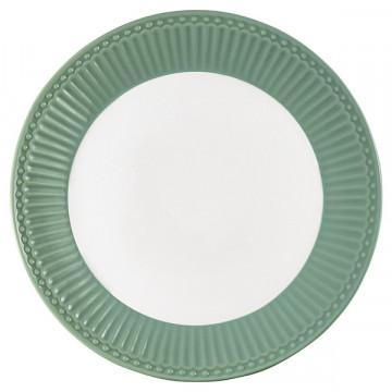 Plato de cerámica 23 cm Alice Dusty Green Green Gate
