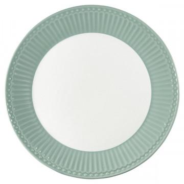 Plato de cerámica 23 cm Alice Dusty Mint Green Gate