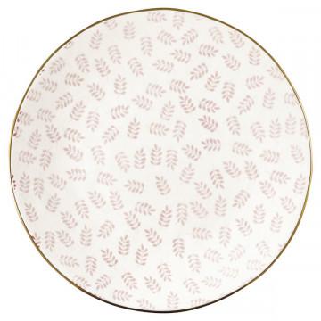 Plato de cerámica 20 cm Lianna Pale Pink Green Gate
