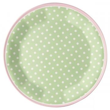 Plato de Melanina Spot Pale Green Green Gate