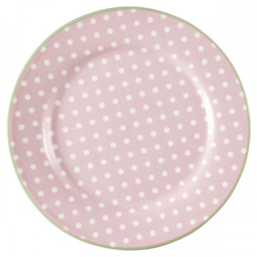 Plato de cerámica 20 cm Spot Pale Pink Green Gate