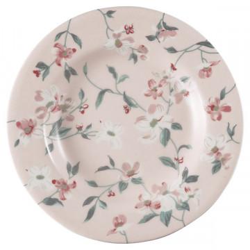 Plato de cerámica 15 cm Jolie Pale Pink Green Gate