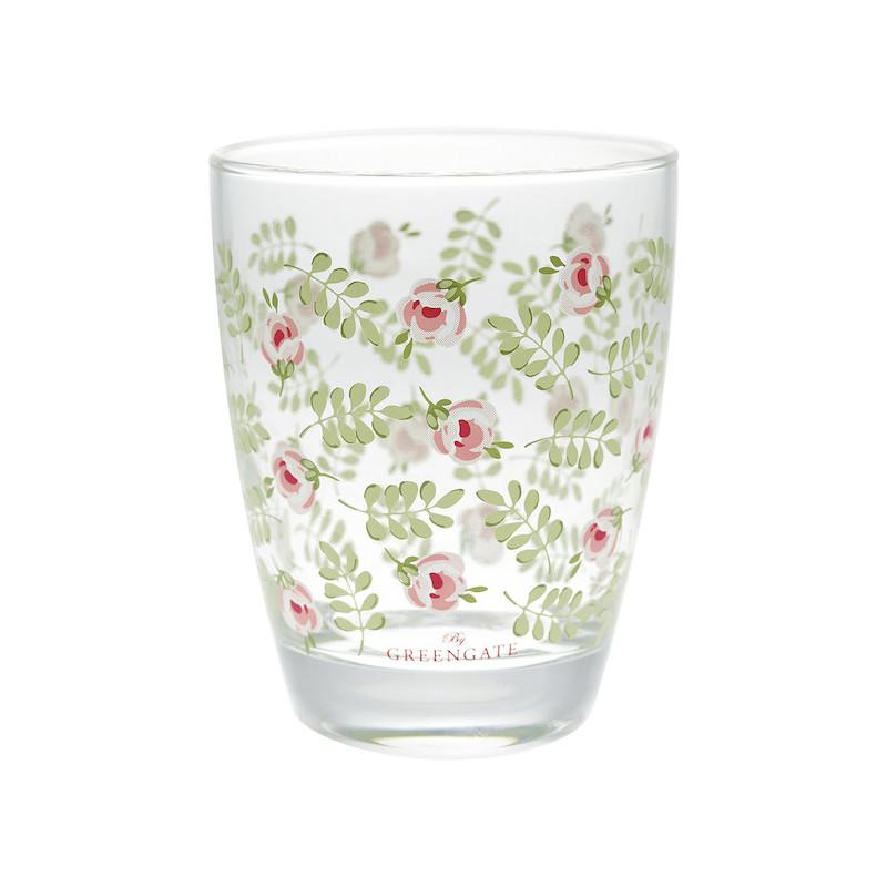 Vaso de cristal Lily Petit White Green Gate