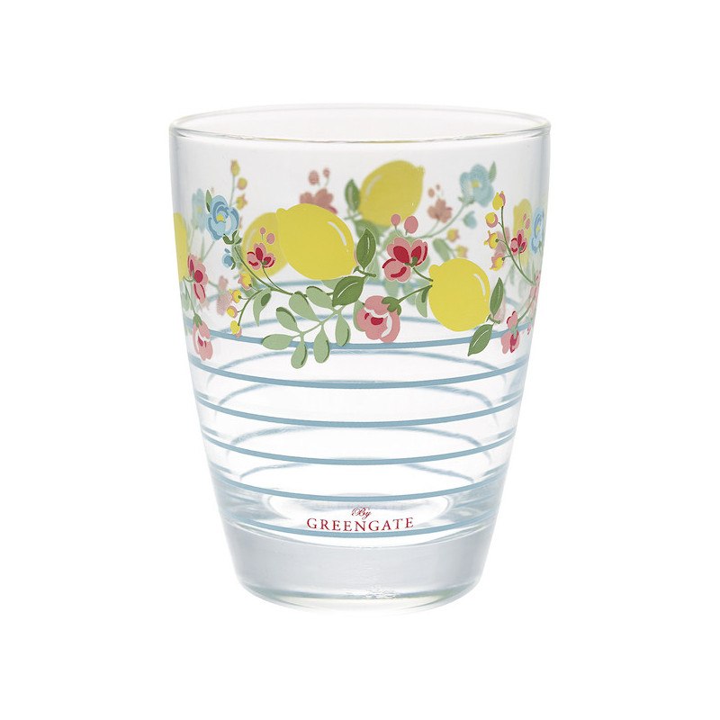 Vaso de cristal Limona Pale Blue Green Gate