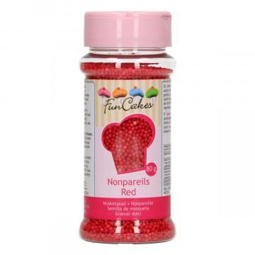 Sprinkles Nonpareils Rojo Mini perlitas Funcakes