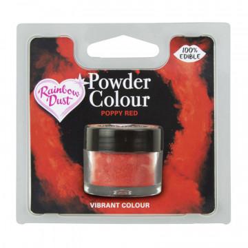 Colorante en polvo Poppy Red. Rojo Amapola Rainbow Dust