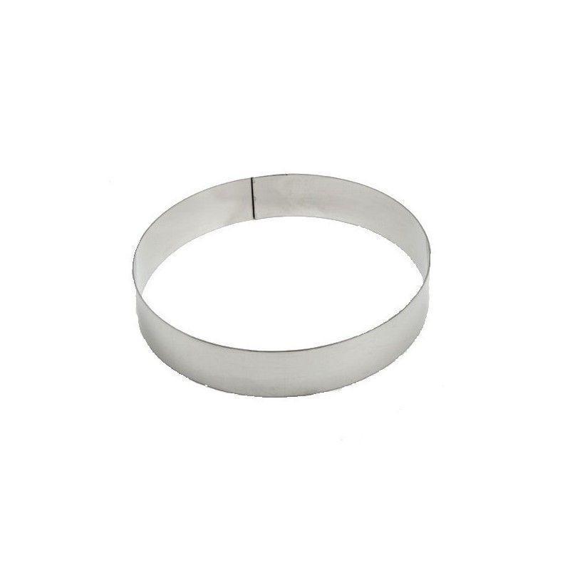 Aro de pastelería redondo Aluminio 12 x 4 cm