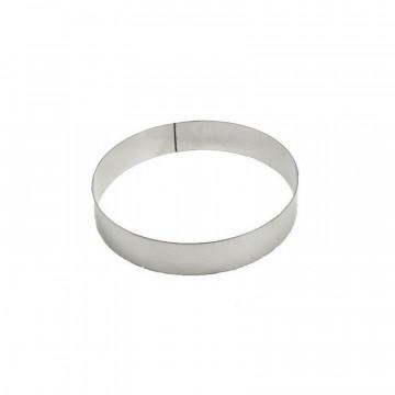 Aro de pastelería redondo Aluminio 20 x 4 cm