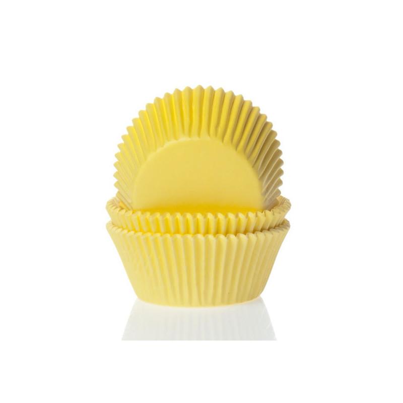 Cápsulas mini cupcakes Amarillo House of Marie