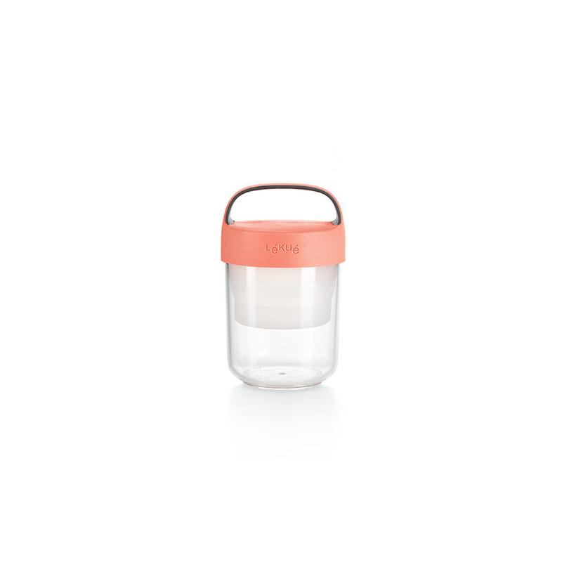 Tupper para llevar Jar to Go 400 ml Coral Lékué