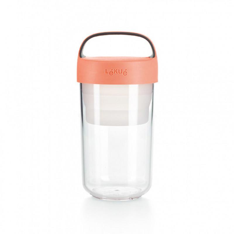 Tupper para llevar Jar to Go 600 ml Coral Lékué