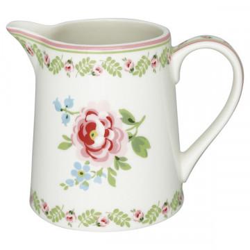 Lechera de cerámica 500 ml Lily Petit White Green Gate