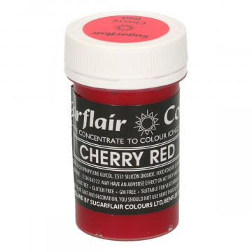 Colorante en pasta Gama Pastel Rojo Cereza Cherry Red  Sugarflair